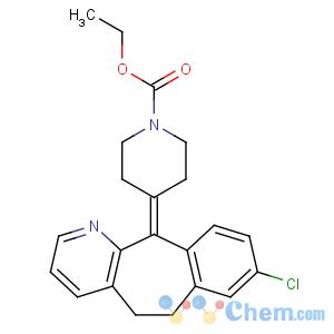 CAS No:79794-75-5 ethyl<br />4-(8-chloro-5,6-dihydrobenzo[1,2]cyclohepta[2,<br />4-b]pyridin-11-ylidene)piperidine-1-carboxylate