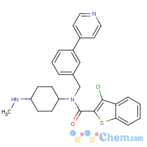 CAS No:912545-86-9 3-chloro-N-[4-(methylamino)cyclohexyl]-N-[(3-pyridin-4-ylphenyl)methyl]-<br />1-benzothiophene-2-carboxamide